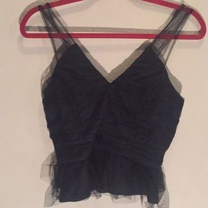 Bcbg Black sleeveless top size 4